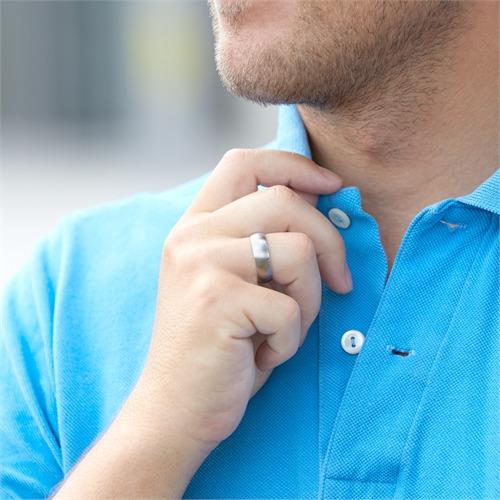 Ring Edelstahl matt rund 7mm Gravur möglich