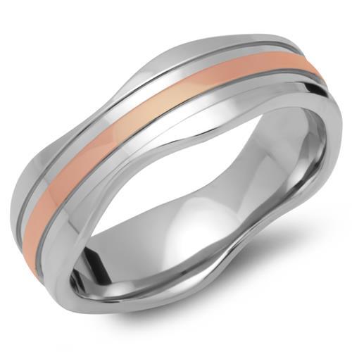 Vergoldeter Ring Edelstahl 7mm breit