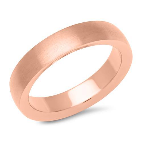 Rosé vergoldeter Ring Edelstahl 4,9 mm breit