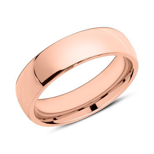 Partnerringe aus rosévergoldetem Edelstahl