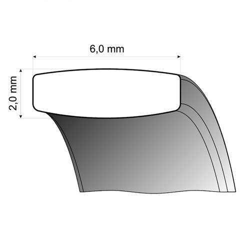 Trauringe Weißgold 6mm