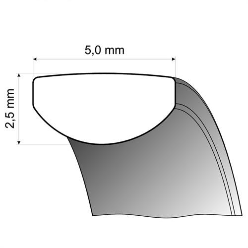 Eheringe Weiß- und Rotgold 5mm