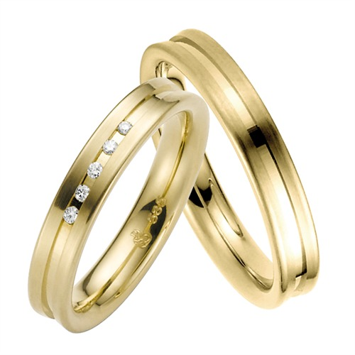 Ringe - Trauringe Gelbgold 4mm  - Onlineshop The Jeweller