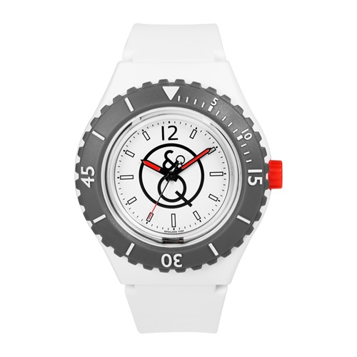 Q&Q Taucheruhr 20 Bar Wasserdichte in weiß RP04J006Y