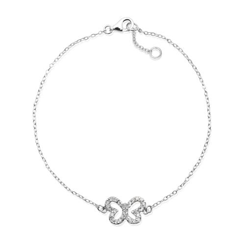 925 Silberarmband Schmetterling Zirkonia SB0128