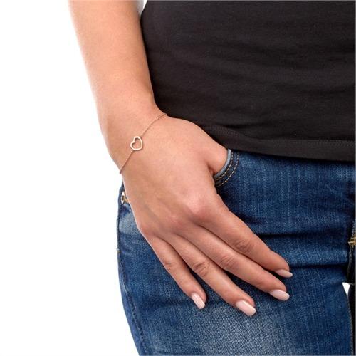 Vergoldetes 925 Silberarmband mit Herzanhänger