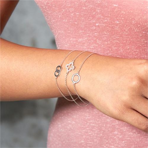 Filigranes Silberarmband für Charms geeignet