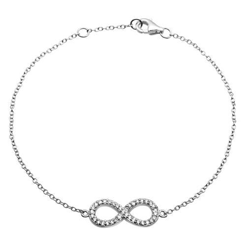 Filigranes Silberarmband Unendlichkeitszeichen