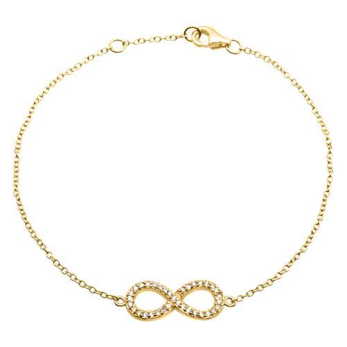 Filigranes Silberarmband Infinity vergoldet