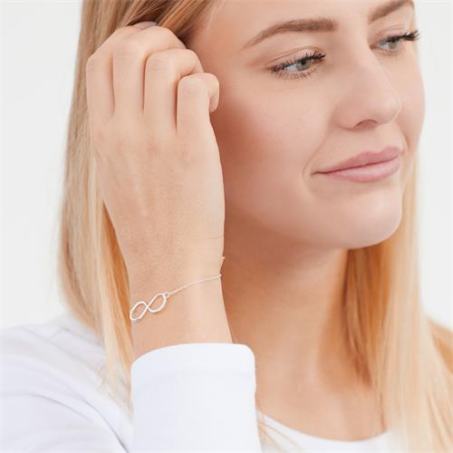 Hochwertiges Silberarmband Unendlichkeitszeichen