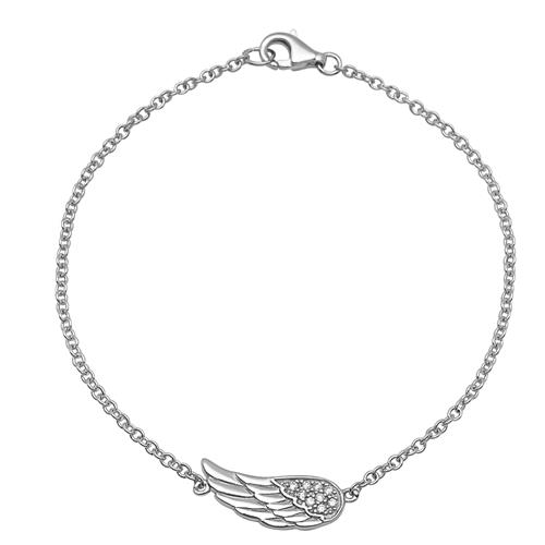 Armband 925er Silber Engelsflügel Zirkonia