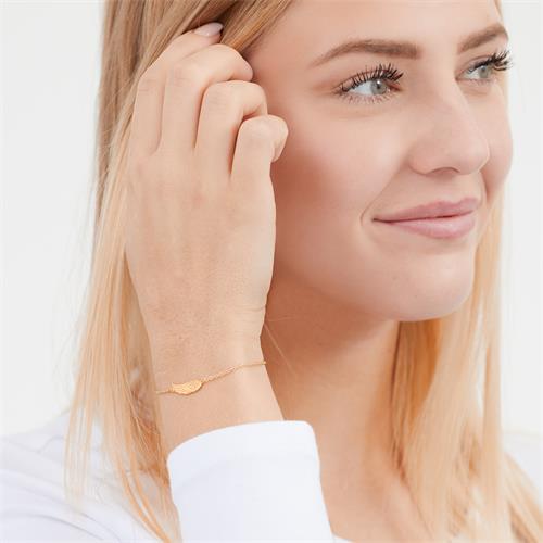 Armband Silber gelbvergoldet Engelsflügel