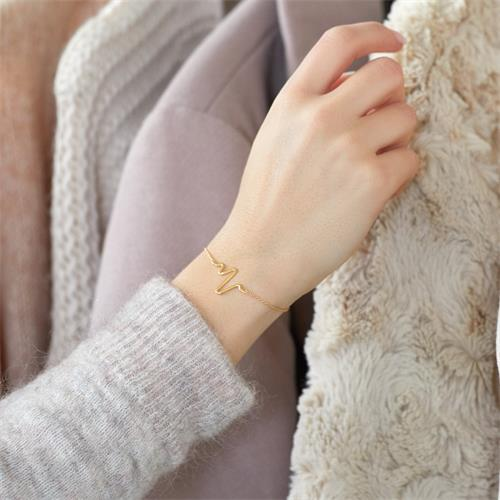 Armband 925er Silber vergoldet gezacktes Design