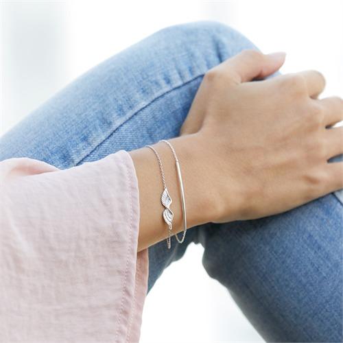 Armband 925er Silber mit Flügelanhänger