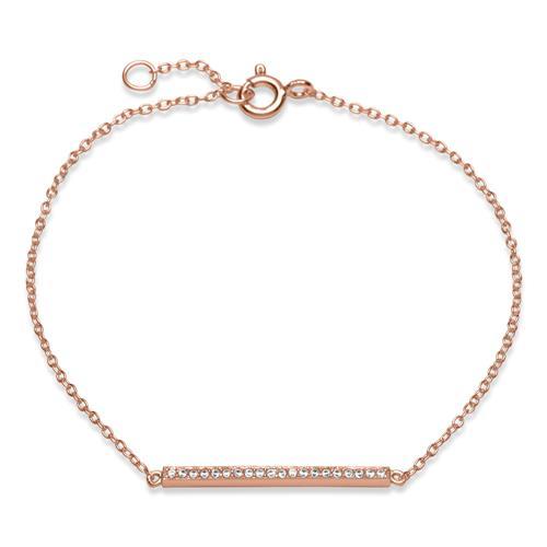 Armbaender für Frauen - Rosévergoldetes Armband 925er Silber  - Onlineshop The Jeweller