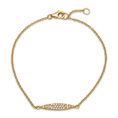 Filigranes Armband 925er Silber Zirkonia gold S...