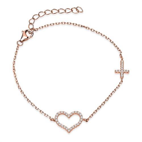 Rosé vergoldetes Armband 925er silber
