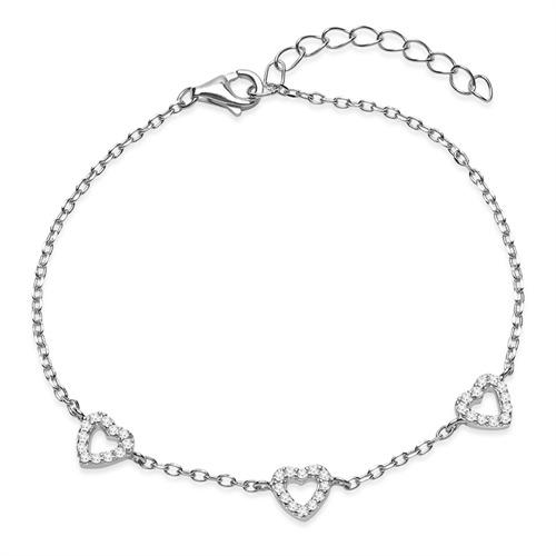 Filigranes 925er Silber Armband mit Steinbesatz