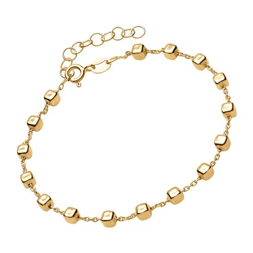 Armband vergoldetem Echtsilber mit eckigen Beads