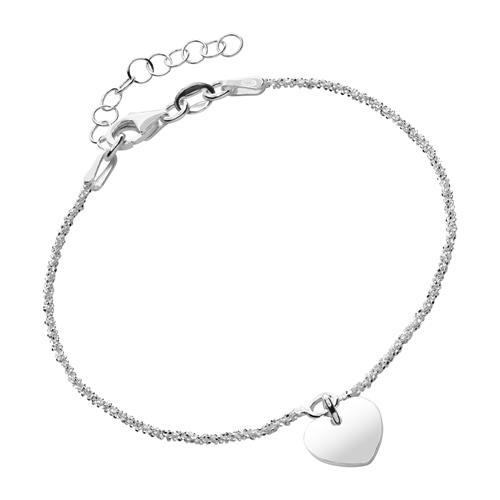 Armband 925er Silber mit einem Herzanhänger