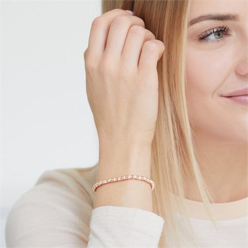Armband rosévergoldetem 925er Silber bicolor