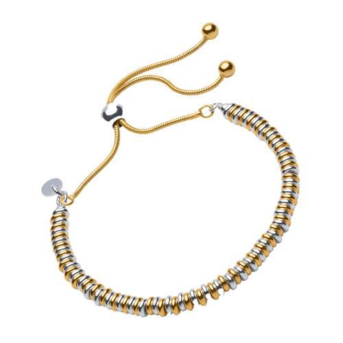 Armband mit vergoldeten und silbernen Beads für Damen
