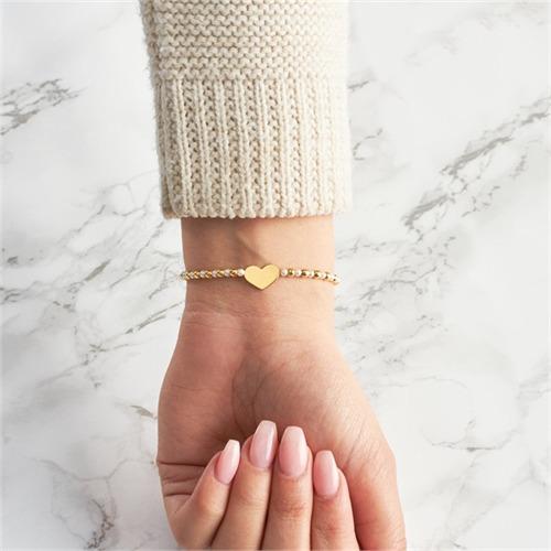Armband vergoldetem Silber mit Perlen und Herz