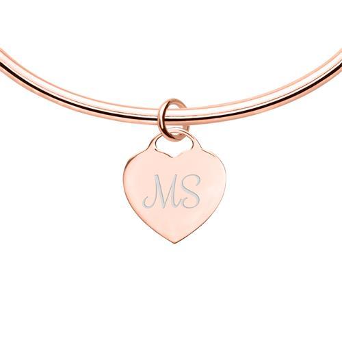 Armreif rosévergoldetem Sterlingsilber mit Herz