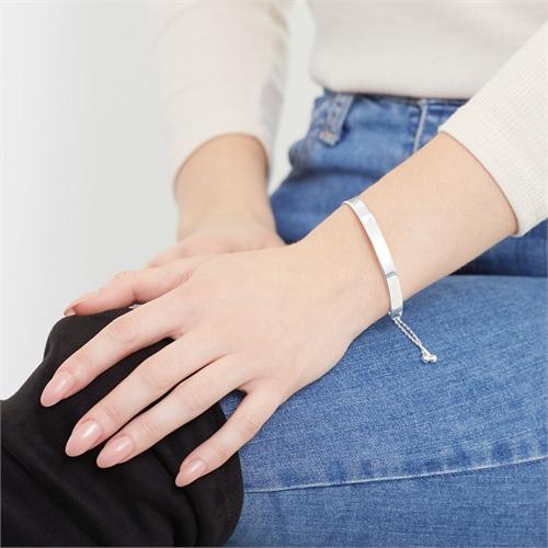 Armreif 925er Silber für Damen gravierbar