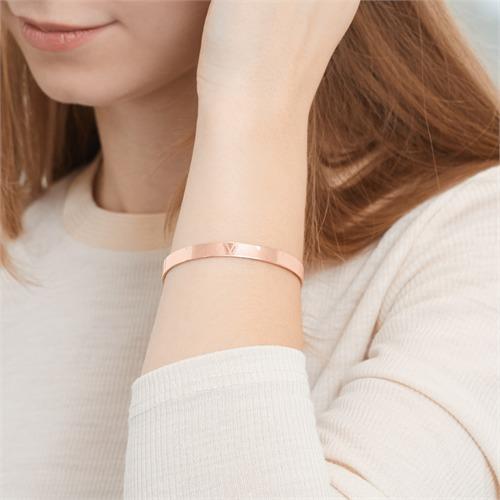 Armreif rosévergoldetem Silber mit Gravuroption