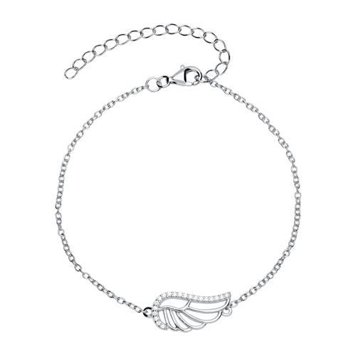 925er Silberarmband mit Flügel Zirkonia SB0288