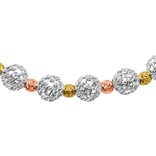 925er Silberarmband gold rosé