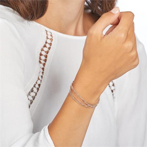 Mehrreihiges Armband aus Sterlingsilber tricolor