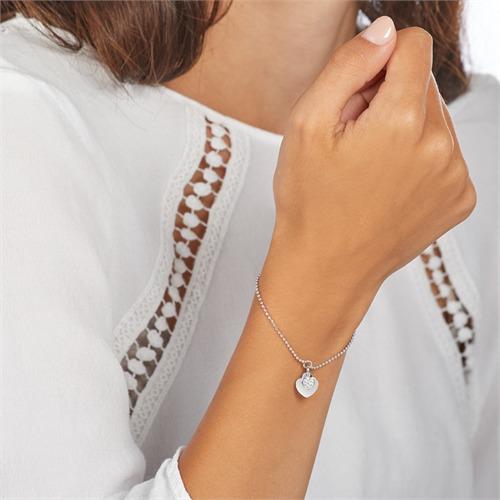 Gravierbares Herzarmband aus Sterlingsilber mit Zirkonia