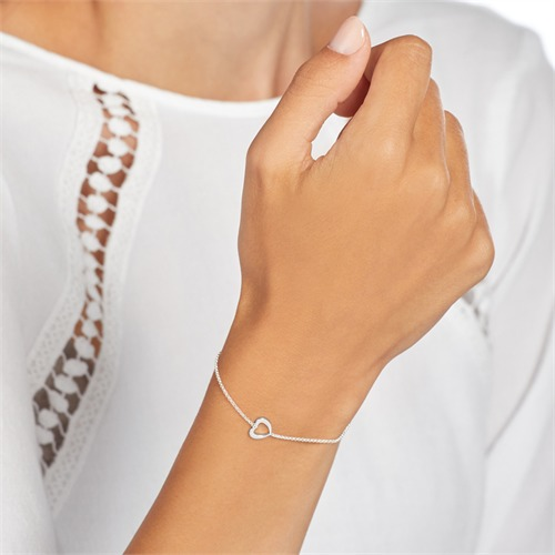 Armband Herz aus Sterlingsilber
