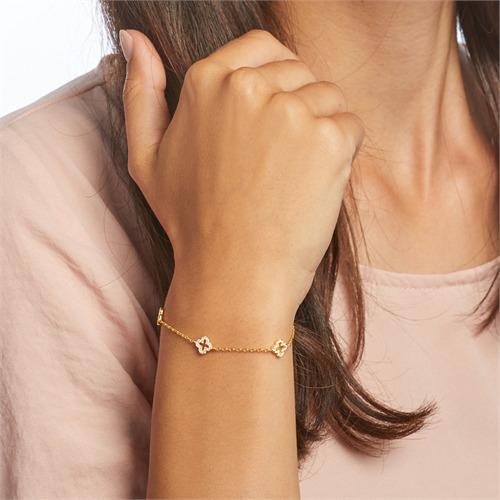 Armband aus vergoldetem Sterlingsilber mit Zirkonia