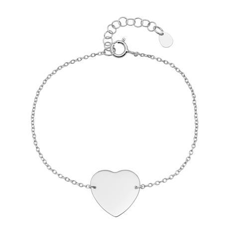 Armbaender für Frauen - Gravierbares Armband im Herzdesign aus 925er Silber  - Onlineshop The Jeweller