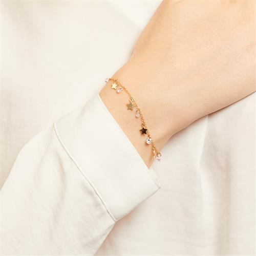 Stern Armband aus vergoldetem 925er Silber mit Zirkonia