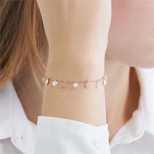 Armband aus rosévergoldetem 925er Silber mit Zirkonia