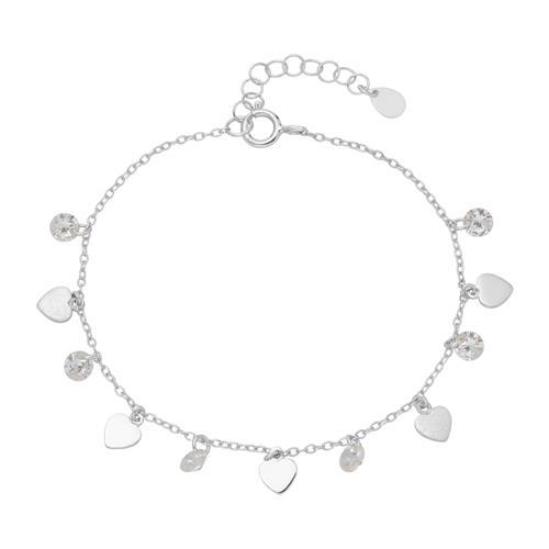 Armband Herzen aus 925er Silber mit Zirkonia