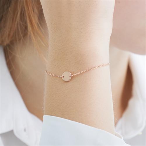 Gravur Armband aus rosévergoldetem 925er Silber
