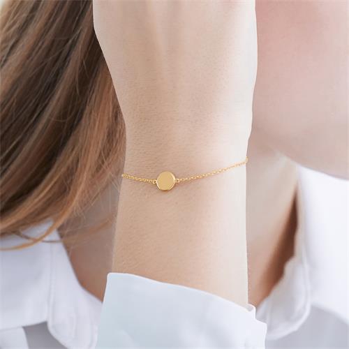 Gravur Armband aus vergoldetem Sterlingsilber