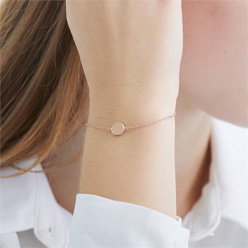 Rosévergoldetes Sterlingsilber Armband gravierbar