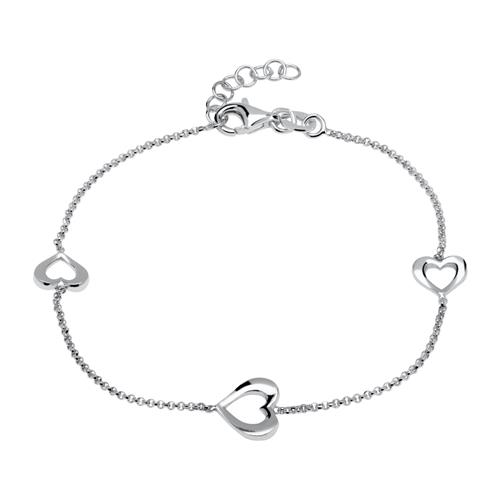 Armbaender - Herz Armband aus Sterlingsilber  - Onlineshop The Jeweller