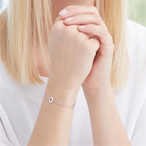 Herz Armband aus Sterlingsilber