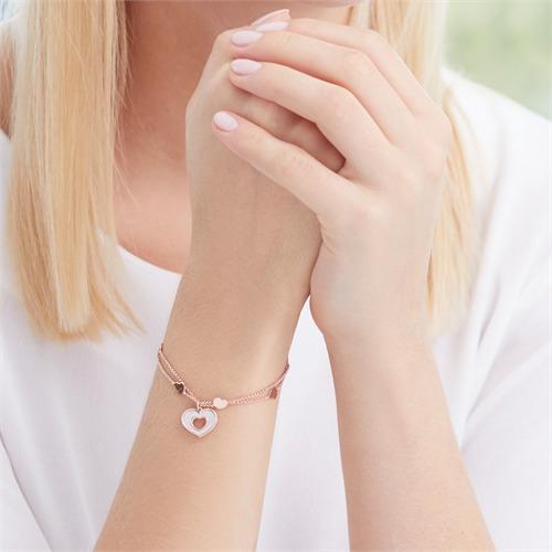 Armband Herzen aus rosévergoldetem 925er Silber