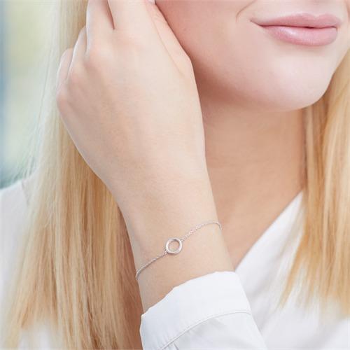 Armband Kreis aus 925er Sterlingsilber