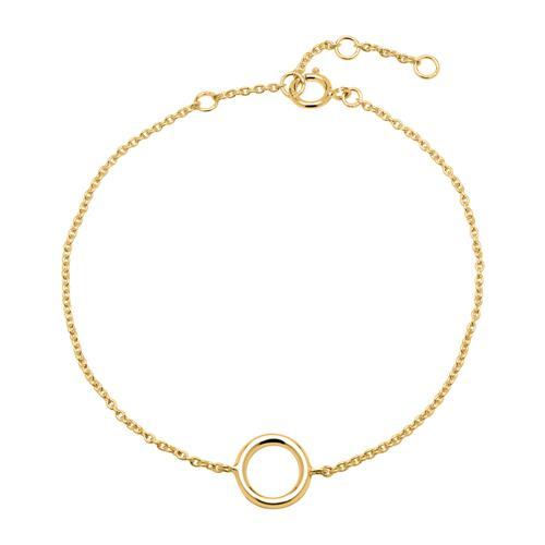 Kreis Armband aus vergoldetem Sterlingsilber