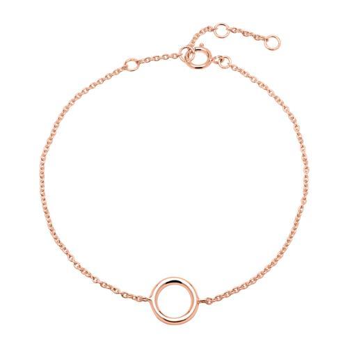 Rosévergoldetes 925er Silber Armband Kreis