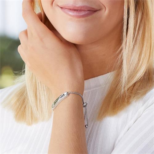 Armband aus Sterlingsilber mit Zirkonia gravierbar